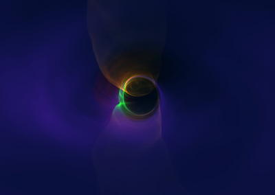 A turbulent accretion disk around a rapidly spinning black hole