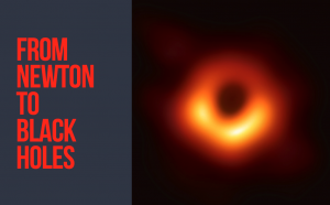 First results black hole image on April 11, 2019; bright yellow light source with red orange glow around, on black background